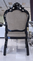 Modern Dining Arm Chair - Angelina - Velvet Gold Mocha