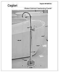 Cagliari Freestanding Bathtub Faucet Polished Chrome