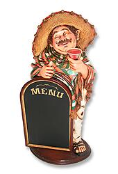 Mexican Waiter with Menu 3FT