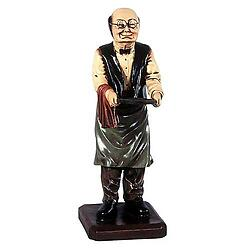 Old Man Butler Statue Holding Tray 2FT