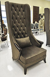 High Back Wing Chair - Duchess Mocha