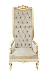 High Back Chair - King Throne Beige