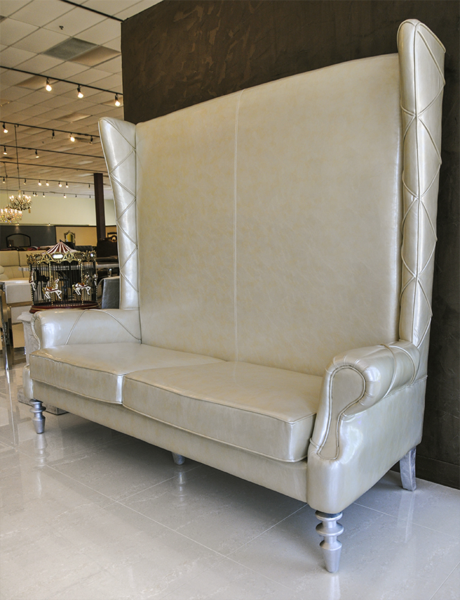 Snow Queen Chaise High Back Love Seat