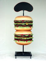 Large Advertisement Hamburger Food Sign Statue