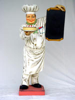 Baker Statue with Menu Life Size