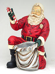 Santa Claus Kneeling with Gift Bag Staue Christmas Decor 4FT