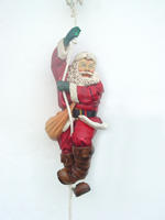 Santa Climbing on Rope Christmas Decor Statue 4FT