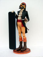Pirate with Menu Statue