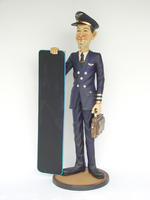 Pilot With Menu Display Statue