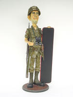 Soldier With Menu Display Statue