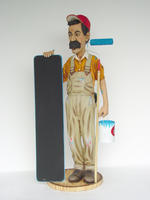 Painter With Menu Display Statue