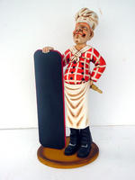 Baker With Menu Display Statue 2.5FT