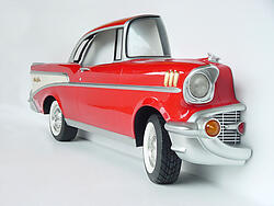Red 57 Chevy Car Wall Decor Full Size 10FT Replica