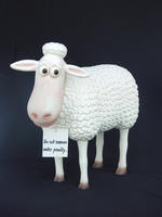 Funny Sheep Statue
