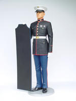 Marine in Attention Statue with Menu 6FT