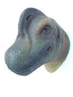 Brachiosaurus Head Wall Mount Statue