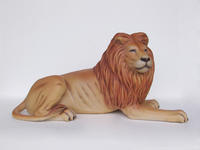 King Lion Lying Statue Life Size