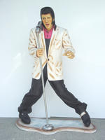 Elvis Statue with Microphone Life Size
