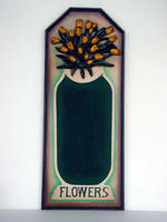 Advertising Plate FLOWERS