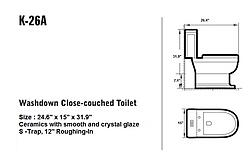 Grassetto - Modern Bathroom Toilet 26.4