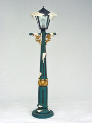 Lamp Post with Snow Christmas Decor 5FT