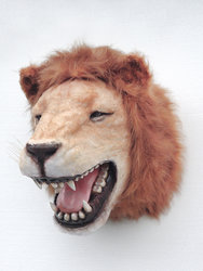 Lion Head Wall Mount Life Size Statue