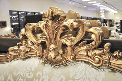 Luxury Bed - Baroque Bed - Geneve Sage
