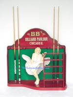 Actress Billiard Cue Rack and Ball Holder