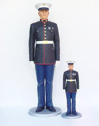 Marine in Attention Life Size Statue 6FT
