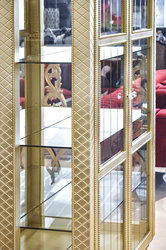 Modern China Cabinet - Geneve - Gold