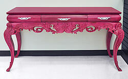 Console Table - Abelina Luxurious Pink Finish