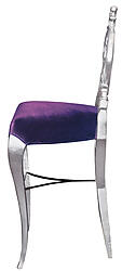Diana Velvet Luxury Modern Bar Stool Purple Velvet
