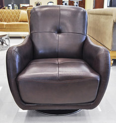 Calisto Modern Leather Swivel Chair