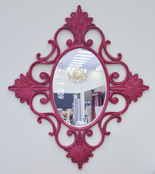 Voltaire Modern Luxury Mirror - Soft Red