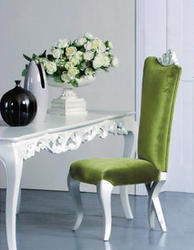Chloe Modern Dining Chair Green Velvet