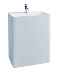 Cadeo - Modern Bathroom Pedestal Sink Cast Stone 23.6