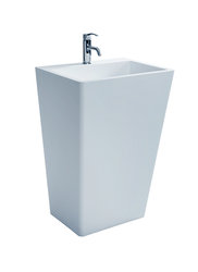 Fazio - Modern Bathroom Pedestal Sink Cast Stone 21.7