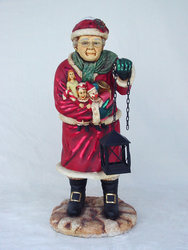 Mrs. Santa Statue Christmas Decor 3FT