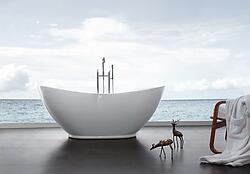 Orlando Acrylic Modern Freestanding Soaking Bathtub 69
