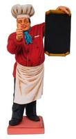 Baker Chef with Menu Statue