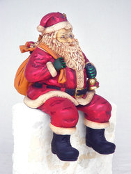 Santa Claus Sitting Statue Christmas Decor