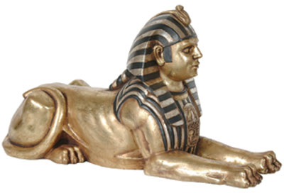 Egyptian Sphinx Statue Laying 2.5 FT
