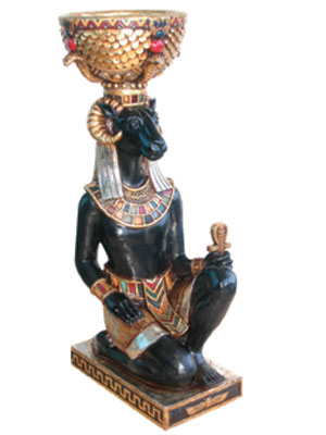 Khnum Egyptian Planter Gold