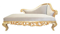 Claudette Chaise Lounge Sofa - Beige