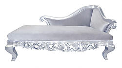 Claudette Chaise Lounge Sofa - Gray