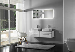 Serenity Double Sink Modern Bathroom Vanity Set 60