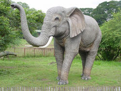Elephant Trunk Up Statue Life Size 10FT