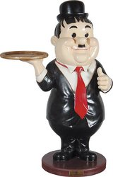 Hardy Waiter Butler Statue with Tray 3FT