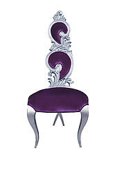 Suzette Modern Dining Chair Purple Velvet
