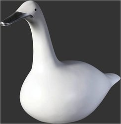 Modern Duck Sculpture